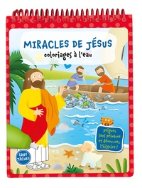Ligue pour la lecture Bible - Miracles de Jésus - Coloriages à l'eau.
