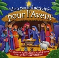 Ligue pour la lecture Bible - Mon pack d'activités pour l'Avent - Contient : 1 crèche pop-up de Noël et 1 livre.
