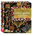 Lili la Baleine - Cartes à gratter le bel hiver - 4 tableaux à gratter et 1 styler en bois.