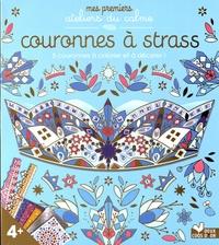 Lili la Baleine - Couronnes à strass - Avec 5 couronnes, 2 planches de strass, 3 planches de mosaïques, 1 planche d'autocollants en mousse argentée.