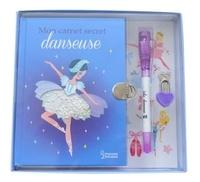 Lilidoll - Mon carnet secret danseuse - Avec un petit cadenas en forme de coeur et un stylo à encre invisible.