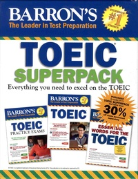 Lin Lougheed - Baron's TOEIC Superpack - Coffret en 3 volumes : Essential Words for the TOEIC ; TOEIC ; TOEIC Practice Exams. 3 CD audio MP3