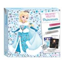 Line Paquet - Princesses - Avec 3 tubes de paillettes, 8 magnets à colorier et 1 stylet malin double embout.