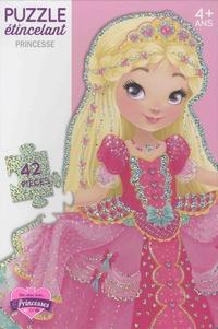 Line Paquet - Puzzle étincelant Princesse - Avec 42 pièces scintillantes.