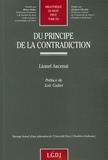 Lionel Ascensi - Du principe de la contradiction.
