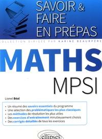 Lionel Béal - Maths MPSI.