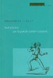 Lionel Destremau et Emmanuel Laugier - Singularités du sujet - Huit études sur la poésie contemporaine.
