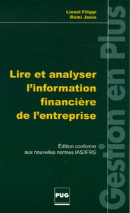 Lire et analyser l'information financière de l'entreprise - Lionel Filippi |