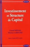 Lionel Melka et Marion Labouré - Investissement et structure de capital.