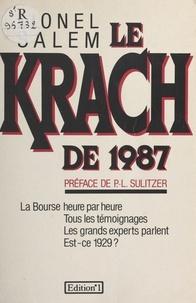 Lionel Salem - Le krach de 1987.