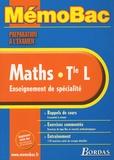 Lionel Weinsanto - Maths Tle L - Enseignement de spécialité.