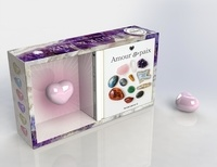 Lisa Butterworth - Coffret Ma pierre d'amour - Le petit guide des cristaux, avec un quartz rose d'Afrique du Sud.