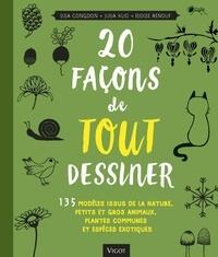 Deedr.fr 20 façons de tout dessiner - 135 modèles issus de la nature, petits et gros animaux, plantes communes et espèces exotiques Image