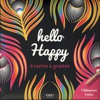 Lisa Magano - Hello happy - 6 cartes à gratter et un bâtonnet inclus.
