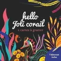 Lisa Magano - Hello joli corail - 6 cartes à gratter et 1 bâtonnet inclus.