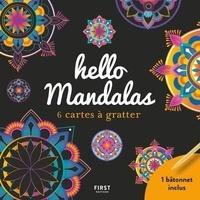 Lisa Magano - Hello mandala - 6 cartes à gratter, avec 1 bâtonnet.