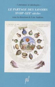 Lise Andries et Andreas Gipper - Le partage des savoirs (XVIIIème-XIXème siècles).