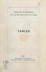 Lise Dubief - Tables analytiques des publications de la Société d'histoire de la Révolution de 1848.