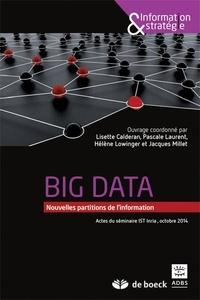Lisette Calderan et Jacques Millet - Big data - Nouvelles partitions de l'information (actes du colloque de l'INRIA, octobre 2014).