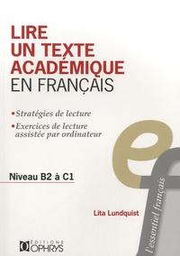 Lita Lundquist - Lire un texte académique en francais - Niveau B2 à C1.