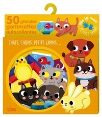 Sonia Baretti - Chats, chiens, petits lapins… - 50 grandes gommettes autocollantes.