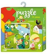 Marjorie Laisne - La ferme - Puzzle 12 pièces.