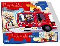 Marine Cazaux - Puzzle Les pompiers - 24 pièces.