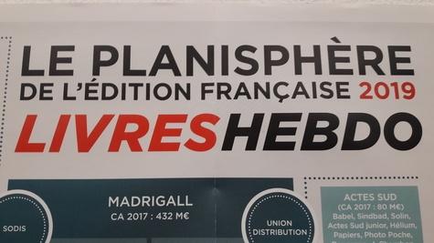 Livres Hebdo - Le planisphère de l'édition française.