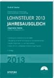 Lohnsteuer Jahresausgleich 2013 - Allgemeine Tabelle.