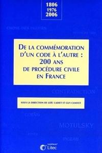 Accentsonline.fr De la commémoration d'un code à l'autre : 200 ans de procédure civile en France - 1806-1976-2006 Image