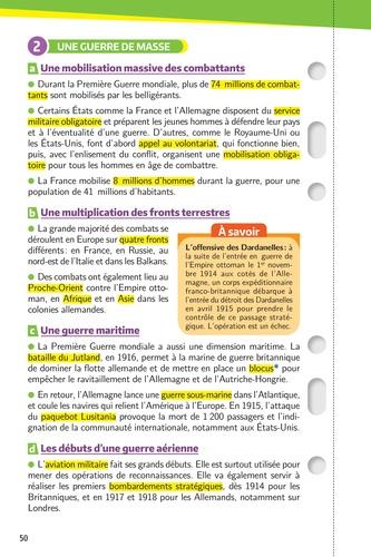 Les fiches histoire-géo 1re  Edition 2019