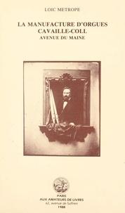 Loïc Métrope et Pierre Hardouin - La manufacture d'orgues Cavaillé-Coll, avenue du Maine.