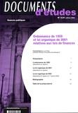 Loïc Philip - Ordonnance de 1959 et loi organique de 2001 relatives aux lois de finances.