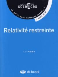 Loïc Villain - La relativité restreinte.