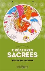 Loops - Créatures sacrées - Aux sources du bien-être. 60 dessins à colorier.