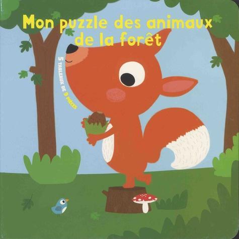 Mon puzzle des animaux de la forêt. 5 tableaux de 9 pièces
