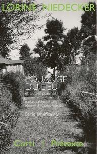 Lorine Niedecker - Louange du lieu et autres poèmes (1949-1970).