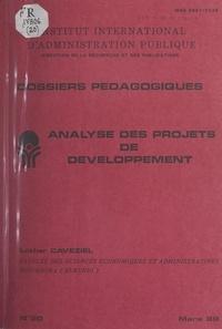 Lothar Caveziel et  Direction de la recherche et d - Analyse des projets de développement.