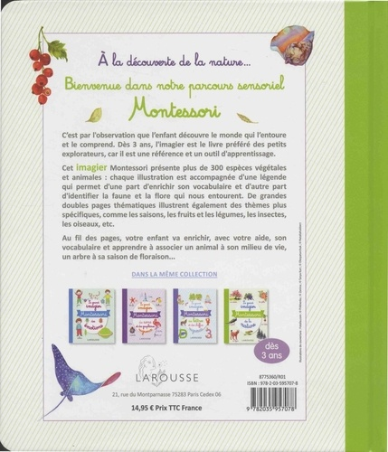 Le grand imagier Montessori de la nature