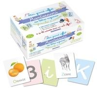 Lotie - Mon grand coffret Montessori des lettres rugueuses majuscules et cursives - Avec 104 lettres rugueuses, 26 cartes images, 10 cartes chiffres et 1 livret d'accompagnement.