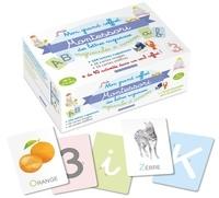 Lotie - Mon grand coffret Montessori des lettres rugueuses - Majuscules et cursives. Avec 104 lettres rugueuses, 26 cartes images, 10 cartes chiffrées + 10 activités.