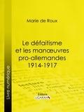 Louis-Amédée-Joseph-Marie marquis de Roux et  Ligaran - Le défaitisme et les manœuvres pro-allemandes 1914-1917.