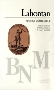 Louis-Armand de Lahontan - Ouvres complètes II.