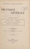 Louis Barbillion et G. Ferroux - Mécanique générale.