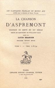 Deedr.fr La chanson d'Aspremont - Tome 1, Vers 1-6154 Image