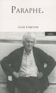 Louis Calaferte - Paraphe.