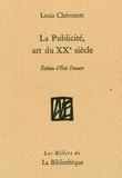 Louis Chéronnet - La publicité, art du XXe siècle.