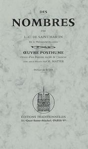 Louis-Claude de Saint-Martin - Des nombres.