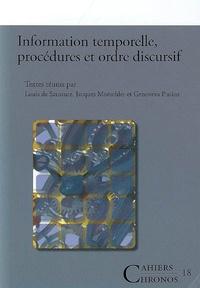 Louis de Saussure - Information temporelle procédures et ordre discursif.