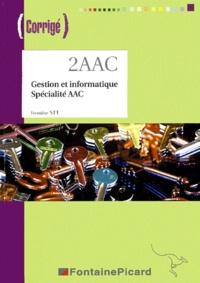 Louis Déroche et Michel Fontaine - Gestion et informatique 1e STT spécialité AAC - Corrigé. 1 Cédérom